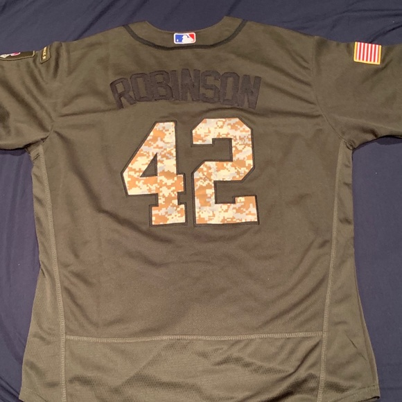 new styles cef9f b0c32 Jackie Robinson salute to service dodgers jersey